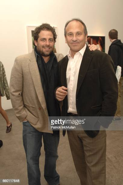 Brett Ratner and Michael Kohn attend SHE Images of women by Wallace Berman and Richard Prince Opening at Michael Kohn Gallery on January 15 2009 in...