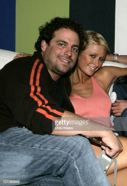 Brett Ratner and Paris Hilton during The Courvoisier Run Athletics Lounge Hosted by Russell Simmons Brett Ratner and Andre Harrell at W Hotel in...