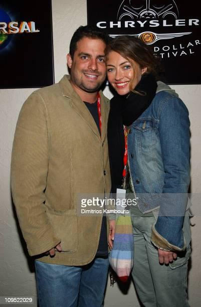 Brett Ratner and Rebecca Gayheart at the Chrysler Lounge in Park City, Utah at the Chrysler Million Dollar Film Festival.