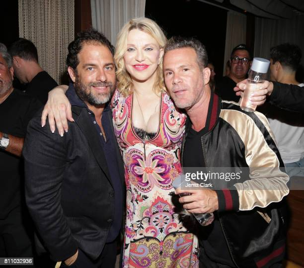 Brett Ratner Courtney Love and Scott Lipps celebrate as Scott Lipps Unviels His New Company Lipps At The Highlight Room At DREAM Hollywood at DREAM...
