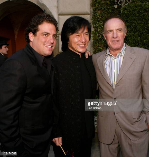 Brett Ratner Jackie Chan and James Caan during Chrysalis Third Annual Butterfly Ball Will Raise Money to Help Economically Disadvantaged and Homeless...