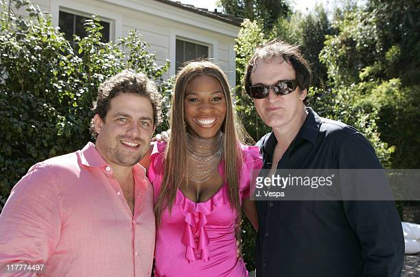 Brett Ratner, Serena Williams and Quentin Tarantino