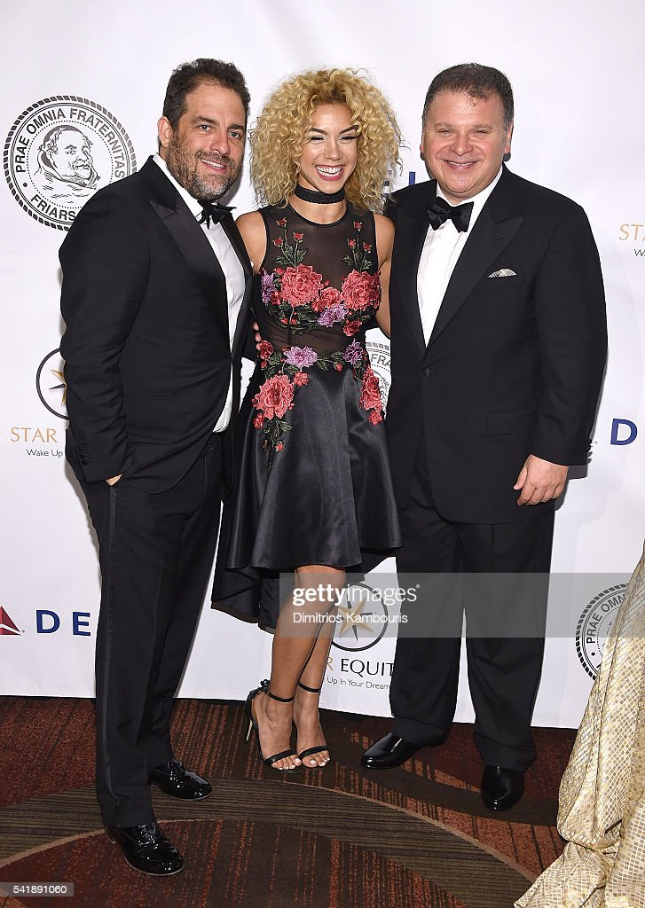 Brett Ratner, Sivan Levi and Bruce Charet attend as the Friars Club Honors Tony Bennett With The Entertainment Icon Award - Arrivals at New York Sheraton Hotel & Tower on June 20, 2016 in New York City.