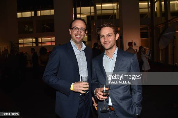Brett Reese and Tyler Ploshnick attend the Unveiling of White Square by Richard Meier Partners at Citigroup Center on December 7 2017 in Miami Florida