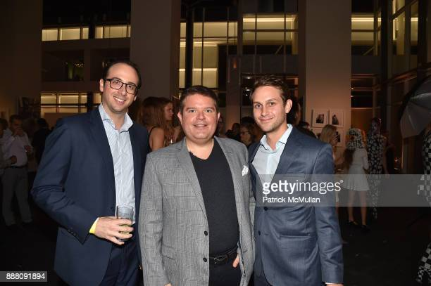 Brett Reese Michael Delmar and Tyler Ploshnick attend the Unveiling of White Square by Richard Meier Partners at Citigroup Center on December 7 2017...