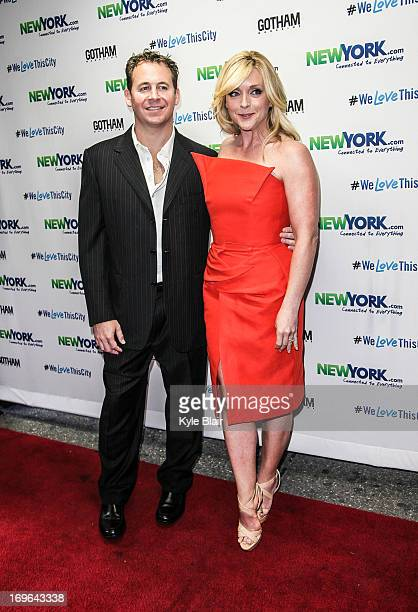 Brett Reizen and Jane Krakowski attend the NewYorkcom Launch Party at Arena on May 29 2013 in New York City