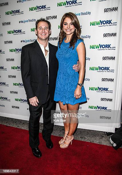 Brett Reizen and Maria Menounos attend the NewYorkcom Launch Party at Arena on May 29 2013 in New York City