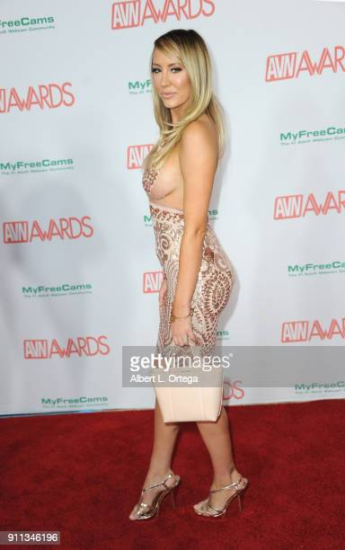 Brett Rossi attends the 2018 Adult Video News Awards held at Hard Rock Hotel Casino on January 27 2018 in Las Vegas Nevada