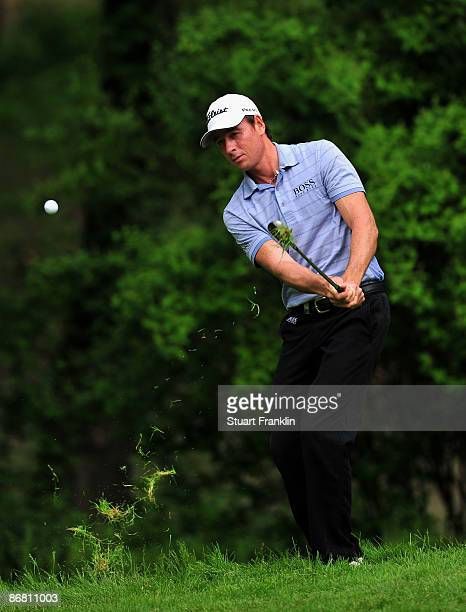 Brett Rumford of Australia plays his chip shot on the 15th hole during the second round of the BMW Italian Open at Royal Park I Roveri on May 8 2009...