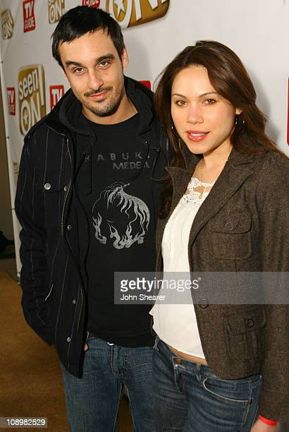Brett Sadlin and Jennifer Roa during The SeenONcom Launch Party Red Carpet at Boulevard3 in Los Angeles California United States
