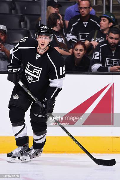 Brett Sutter of the Los Angeles Kings skates during a preseason game against the Arizona Coyotes on September 26, 2016 at Staples Center in Los...