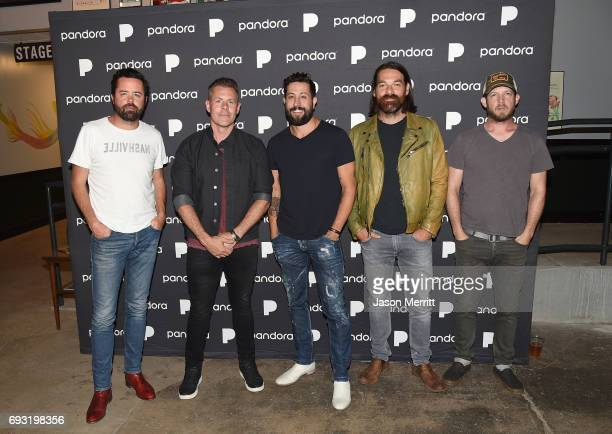 Brett Tursi Trevor Rosen Matthew Ramsay Geoff Sprung and Whit Sellers of musical group Old Dominion attend Pandora Sounds Like Country at Marathon...