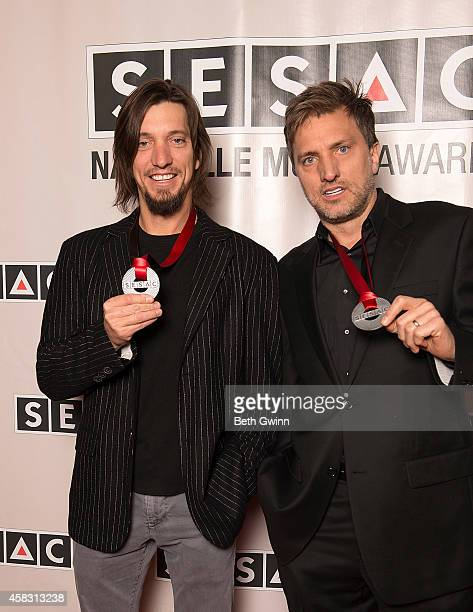 Brett Warren and Brad Warren attend the 2014 SESAC Nashville Awards at the Country Music Hall of Fame and Museum on November 2 2014 in Nashville...