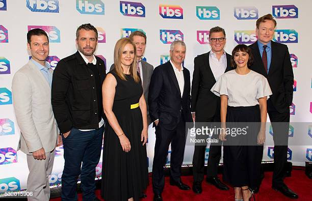 Brett Weitz Jason Jones Samantha Bee John Martin David Levy Kevin Reilly Rashida Jones and Conan O'Brien attend TBS's A Night Out with Conan O'Brien...