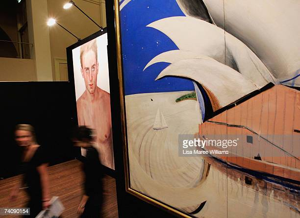 Brett Whiteleys work 'Opera House' sells for 288 million dollars during the Sotheby's auction of important Australian paintings May 7 2007 in Sydney...