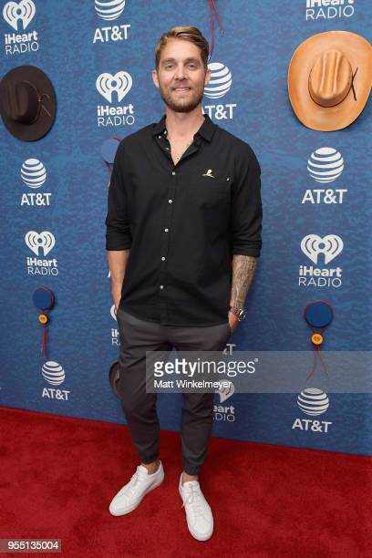 Brett Young arrives at the 2018 iHeartCountry Festival By ATT at The Frank Erwin Center on May 5 2018 in Austin Texas