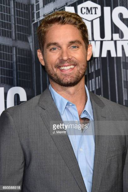Brett Young attends the 2017 CMT Music Awards at the Music City Center on June 7 2017 in Nashville Tennessee