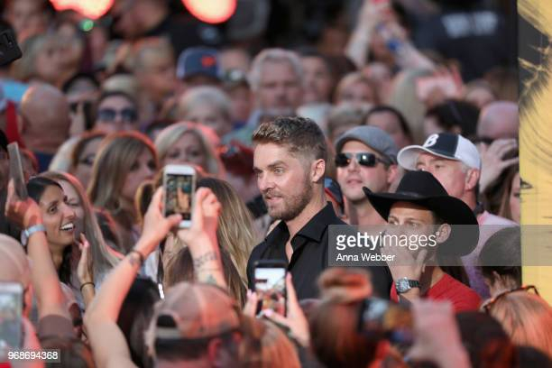 Brett Young attends the 2018 CMT Music Awards at Bridgestone Arena on June 6 2018 in Nashville Tennessee