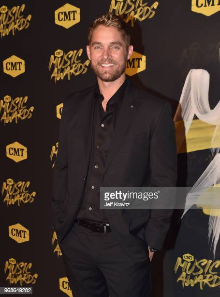 Brett Young attends the 2018 CMT Music Awards at Nashville Municipal Auditorium on June 6 2018 in Nashville Tennessee