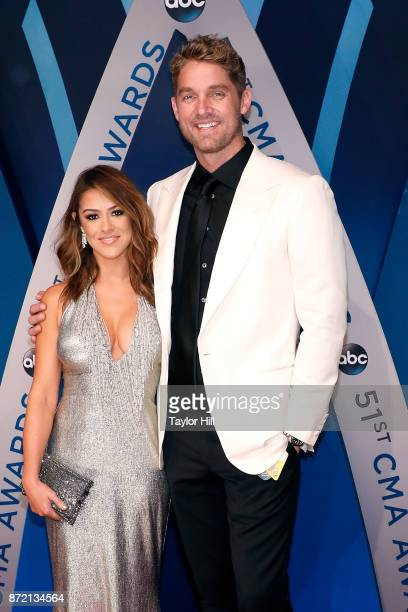 Brett Young attends the 51st annual CMA Awards at the Bridgestone Arena on November 8 2017 in Nashville Tennessee