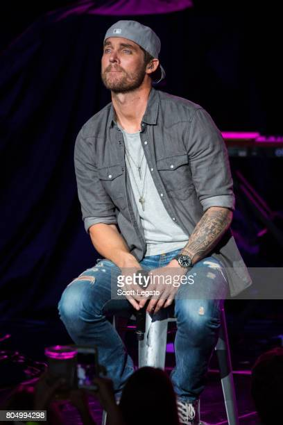 Brett Young performs at the 995 WYCD Hoedown 2017 at DTE Energy Music Theater on June 30 2017 in Clarkston Michigan