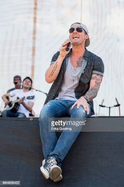 Brett Young performs during the 2017 CMA Music Festival on June 10 2017 in Nashville Tennessee