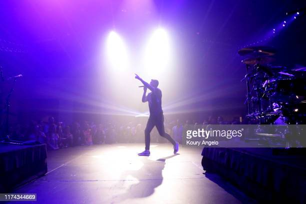 Brett Young performs for Hilton Honors Members who redeemed points for an exclusive concert at the Country Music Hall of Fame and Museum on September...