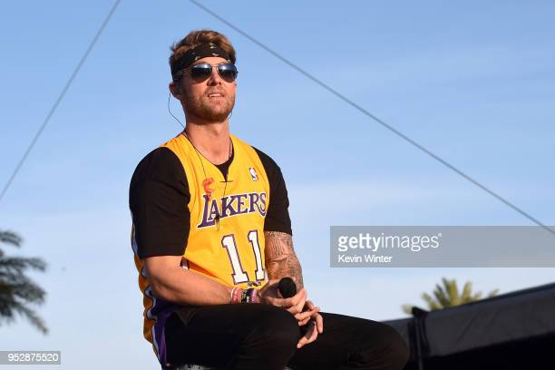Brett Young performs onstage during 2018 Stagecoach California's Country Music Festival at the Empire Polo Field on April 29 2018 in Indio California