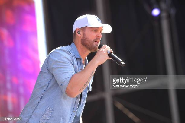 Brett Young performs onstage the Daytime Stage at the 2019 iHeartRadio Music Festival held at the Las Vegas Festival Grounds on September 21 2019 in...