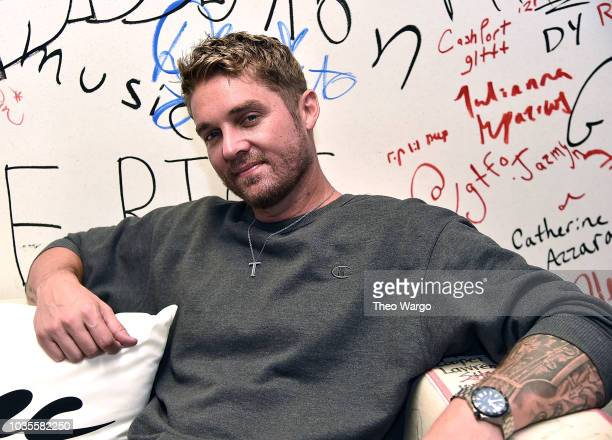 Brett Young Visits Music Choice at Music Choice on September 18 2018 in New York City