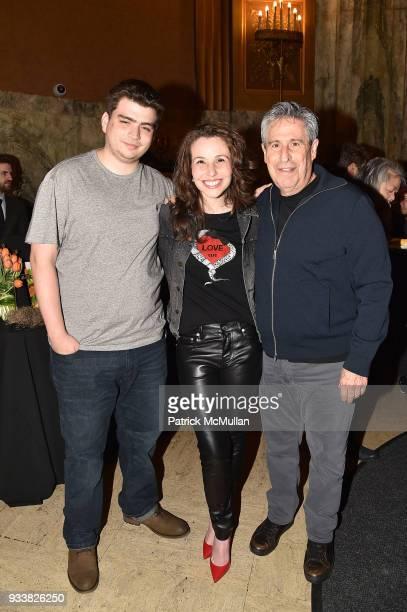 Brett Yulman Katy Williamson and Richard Yulman attend Love Rocks NYC VIP Rehearsal Cocktail at Beacon Theatre on March 14 2018 in New York City...