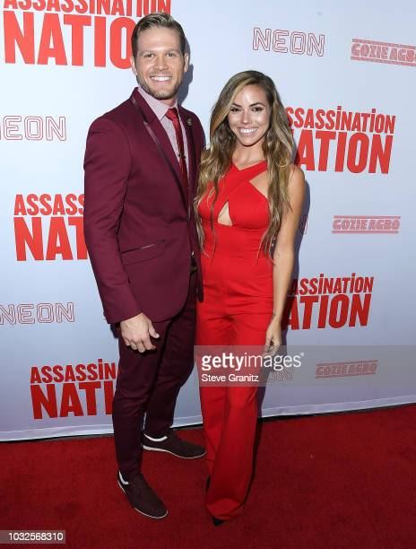 Brett ZimmermanCourtney Turk arrives at the Premiere Of Neon And Refinery29's Assassination Nation at ArcLight Hollywood on September 12 2018 in...