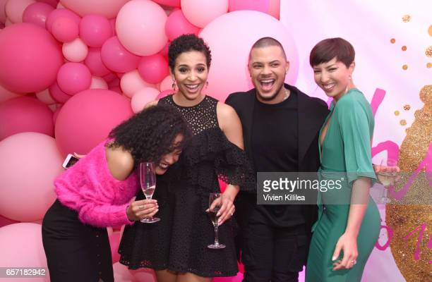 Brette Sims Erica Dickerson Sebastian Mego and Nisha Espy attend beautyblender Cheers to 15 Years on March 23 2017 in West Hollywood California