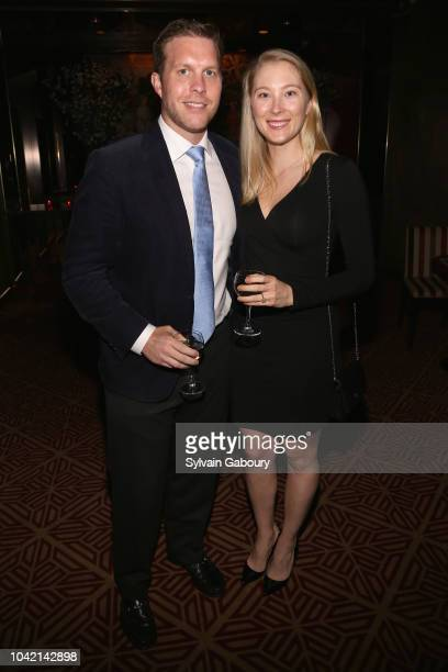 Breuer Ostrom III and Julie Bancroft attend David Patrick Columbia And Chris Meigher Toast The QUEST 400 At DOUBLES on September 27 2018 in New York...