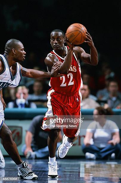 Brevin Knight of the Atlanta Hawks during the game against the Charlotte Hornets on February 8 2001 at Charlotte Coliseum in Charlotte North Carolina