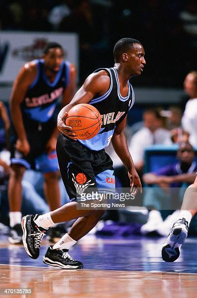Brevin Knight of the Cleveland Cavaliers during the game against the Charlotte Hornets on February 8 1999 at Charlotte Coliseum in Charlotte North...