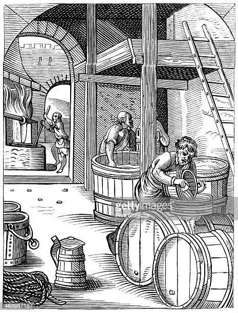 Brewer 16th century A 19th century version of an original 16th century engraving From Le Moyen Age et la Renaissance by Paul Lacroix Ferdinand Séré...