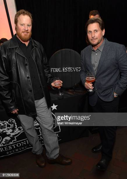 Brewmaster Tim Crooks and Emilio Estevez at the after party for the Opening Night Film 'The Public' Presented by Belvedere Vodka during the 33rd...