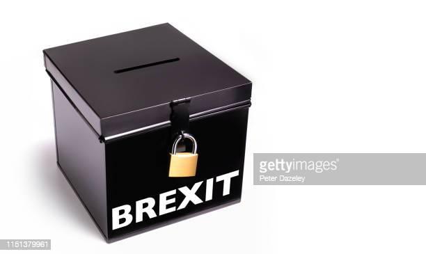 brexit election ballot box - ballot box stock pictures, royalty-free photos & images