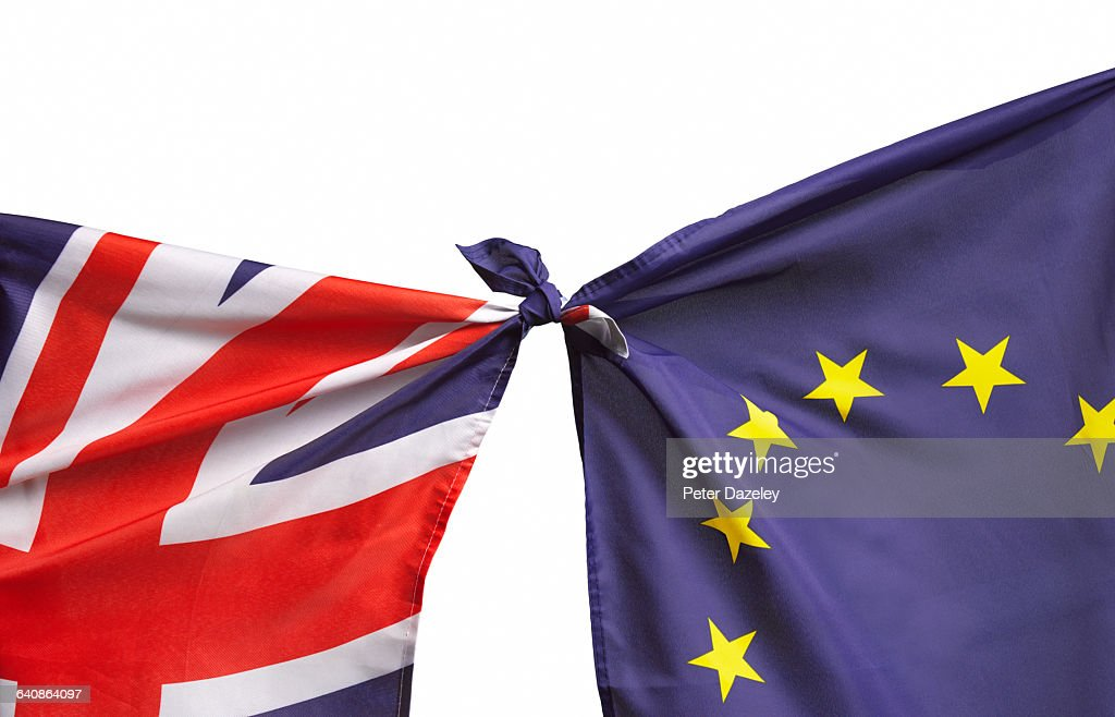 Brexit flags : Stock Photo
