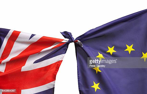 brexit flags - brexit stock pictures, royalty-free photos & images