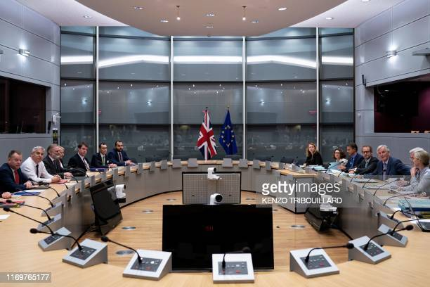 UK Brexit Minister Stephen Barclay is pictured prior to a meeting with EU chief Brexit negotiator Michel Barnier on September 20 in Brussels