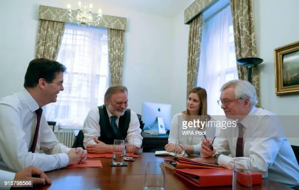 Brexit negotiators Exiting the European Union Secretary David Davies with Sir Tim Barrow Permanent Representative of the United Kingdom to the...