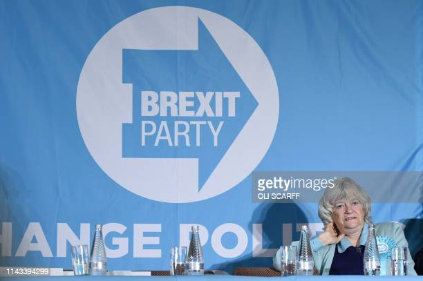 Brexit Party candidate Ann Widdecombe attends a European Parliament election campaign event in Pontefract northwest England on May 13 2019 The...