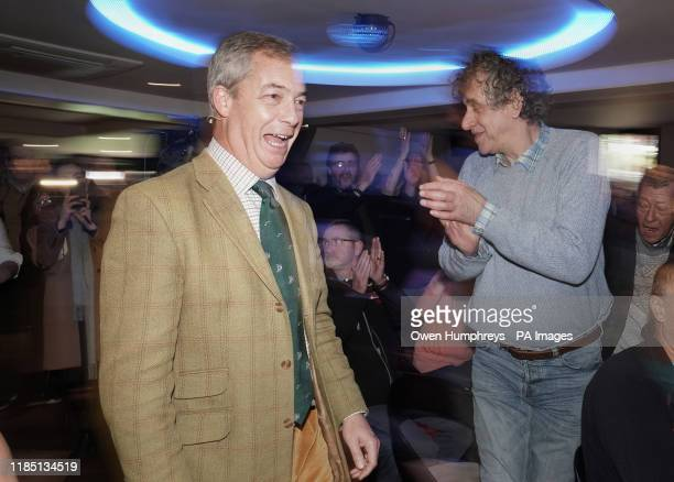Brexit Party leader Nigel Farage at One Stop Golf in Hull East Yorkshire whist on the General Election campaign trail