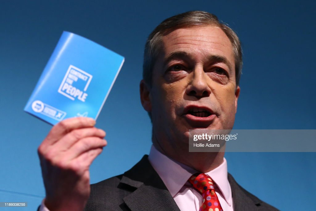 Nigel Farage Launches The Brexit Party's Policies : News Photo
