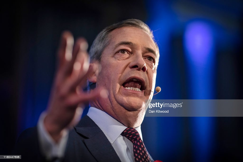 Brexit Party Leader Farage Introduces 600  Candidates For General Election : News Photo