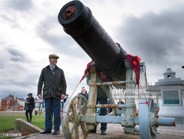 Brexit Party leader Nigel Farage visits the Heugh Battery Musuem at the Headland in Hartlepool