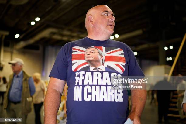 Brexit Party supporters attend the party's Big Vision Rally at the National Exhibition Centre on June 30 2019 in Birmingham England Organisers have...