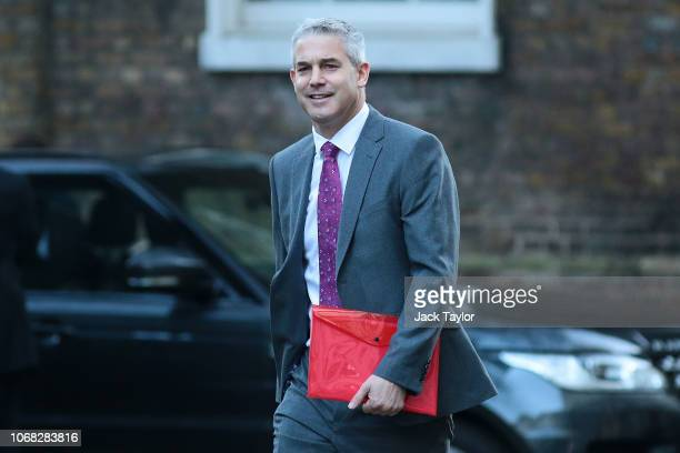 Brexit Secretary Stephen Barclay arrives at 10 Downing Street as Ministers attend a weekly cabinet meeting ahead of a meaningful vote debate on the...